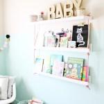 DIY Faux Hanging Rope Bookshelves