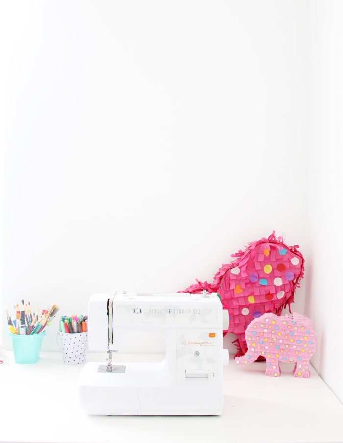 bright colors and white craft room | A Joyful Riot