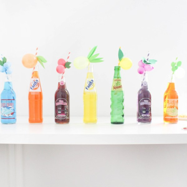 DIY Fruity Balloon Straws