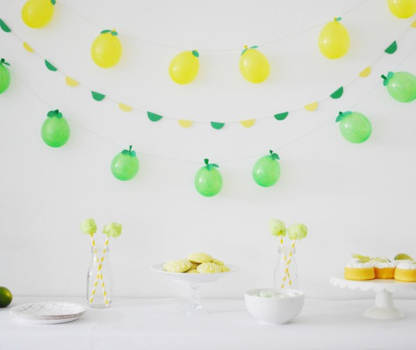 Lemon and Lime Balloon Garlands