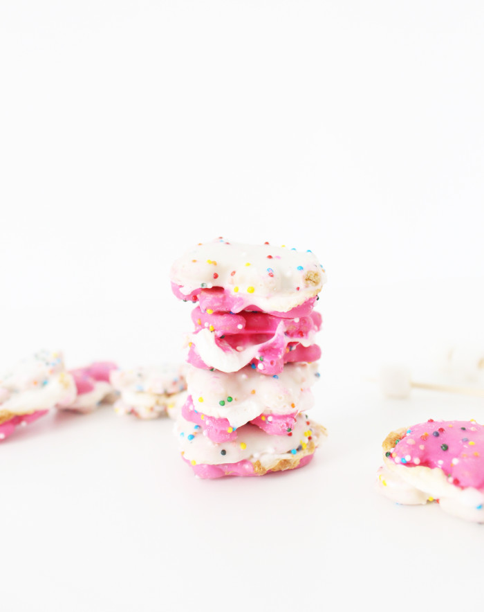 Animal cookie s'mores | 6 unique, colorful and deliciously amazing s'more ideas. | A Joyful Riot