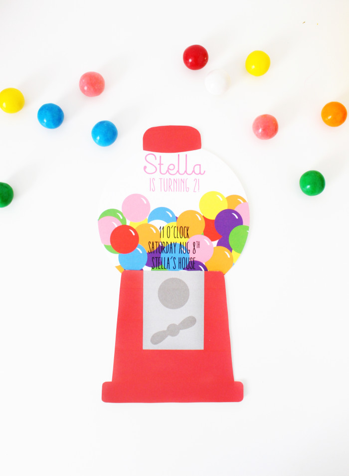 photograph relating to Gumball Machine Printable called Gumball System Invites Absolutely free Printable A Satisfied Rebellion