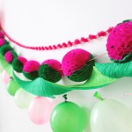 Watermelon Honeycomb Garland