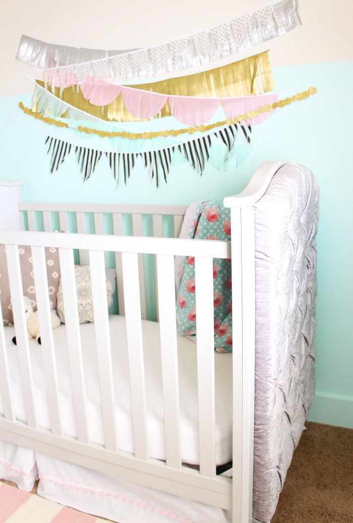 DIY Restoration Hardware Hack Tufted Crib. Fraction of the cost and oh so beautiful! | A Joyful Riot