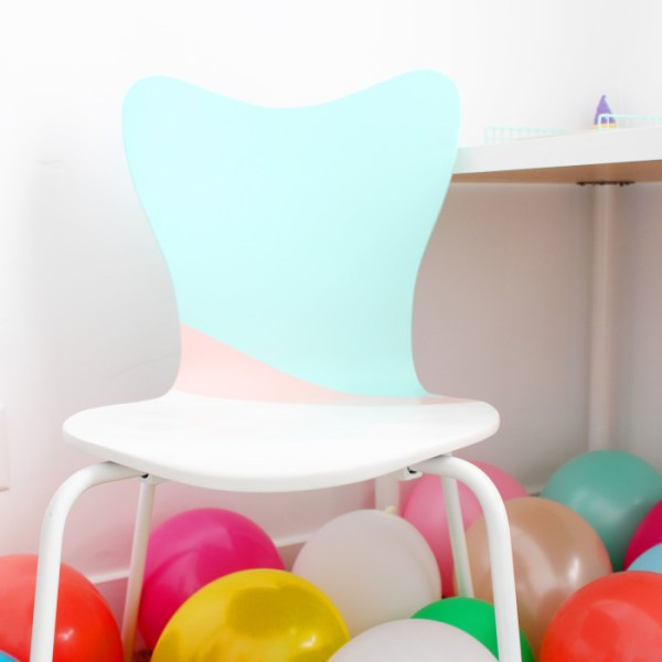 DIY Colorblocked Office Chair