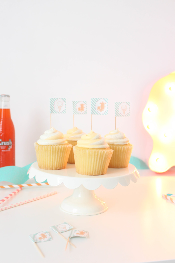 Use address labels to make cupcake toppers | A Joyful Riot-1