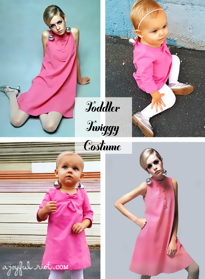Toddler Twiggy costume, perfect for your lttle ones with a baby amound of hair ajoyfulriot.com @ajoyfulriot c
