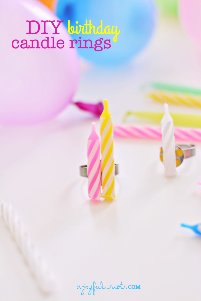 DIY Birthday Candle Rings @ajoyfulriot #kidscraft #birthday #party