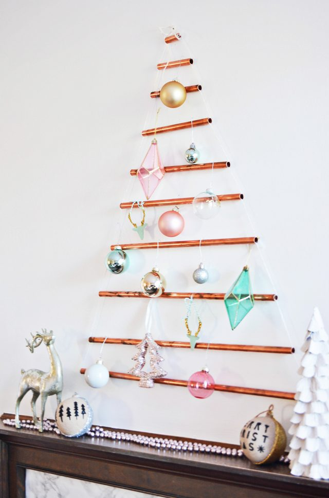 Wall-mounted Copper Pipe Tree @ajoyfulriot