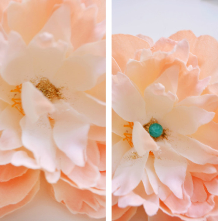 Simple peony ornaments make a big impact! via ajoyfulriot.com @ajoyfulriot