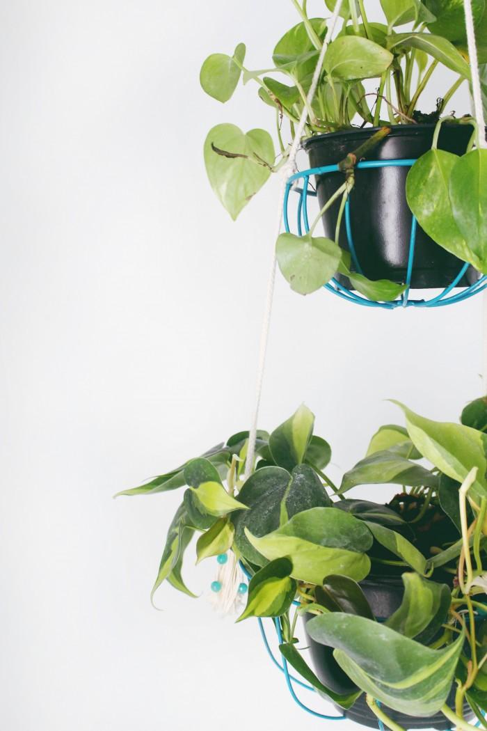 DIY hanging planter from ajoyfulriot.com @ajoyfulriot