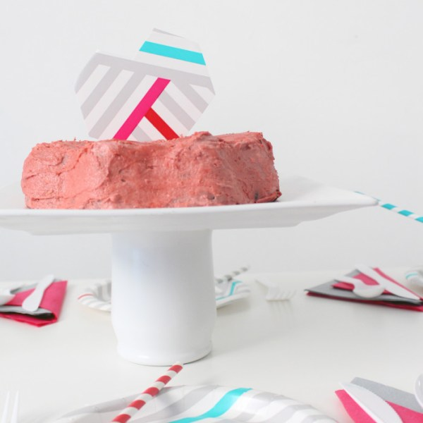A Geometric Galentine's Day Party with Cheeky
