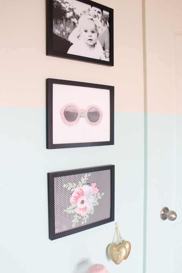 mint, pink, black, gold and silver nursery 15