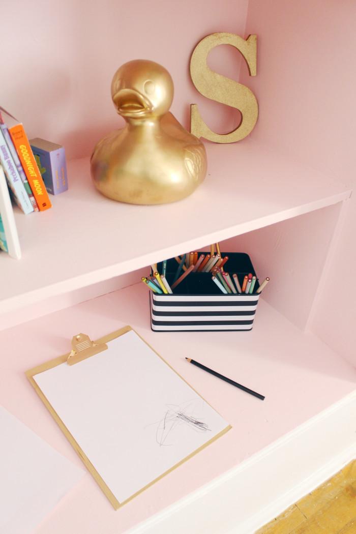 Black, white, pink nursery via ajoyfulriot.com @ajoyfulriot 20