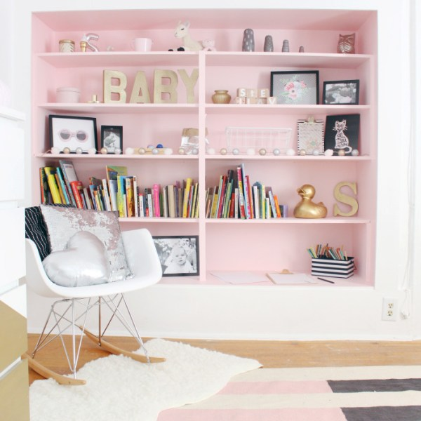 Stella's New Room + How to Paint over Wallpaper