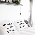 DIY Lyric Pillowcases