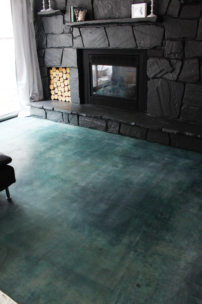 Diy Concrete Flooring Makeover: DIY Acid Stained Concrete Floor