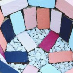 DIY Colorful Brick Outdoor Firepit