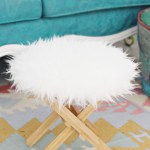 Ikea Hack | The Easiest Furry Footstool