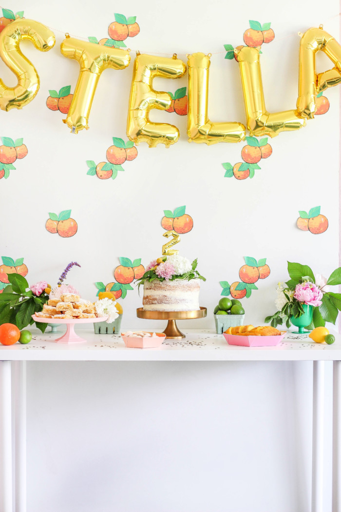 Vintage Citrus Floral Birthday Party via ajoyfulriot.com-13