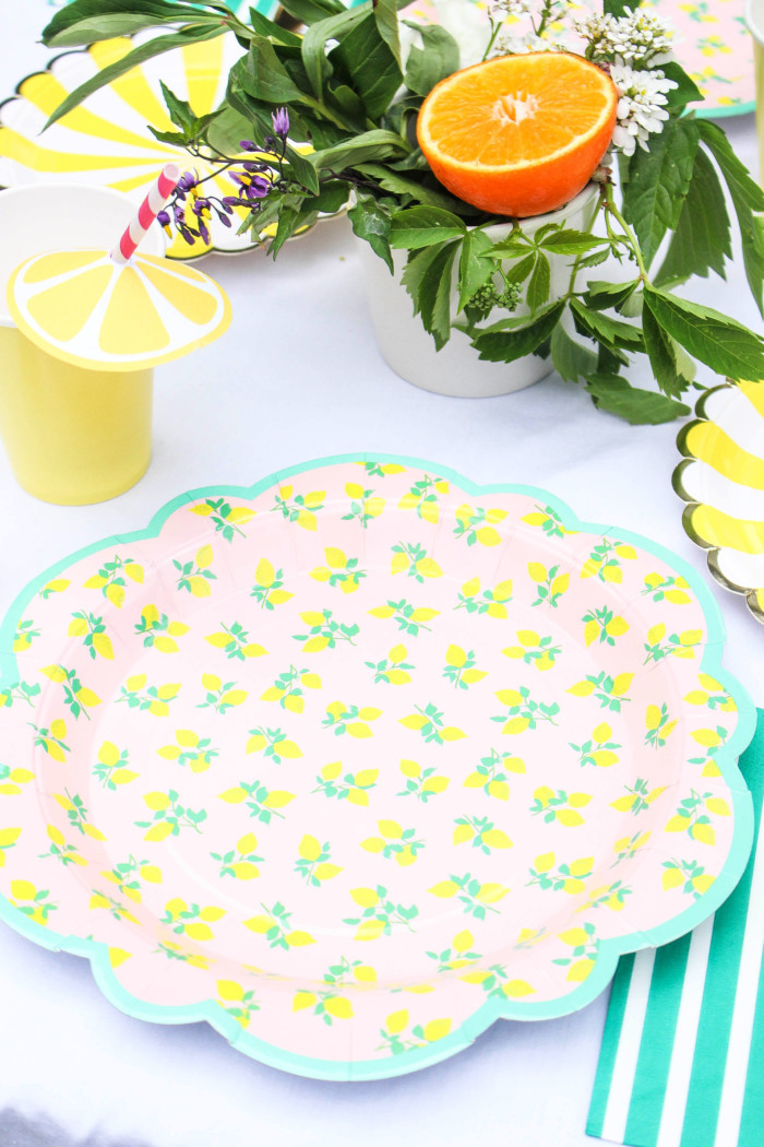 Vintage Citrus Floral Birthday Party via ajoyfulriot.com-25