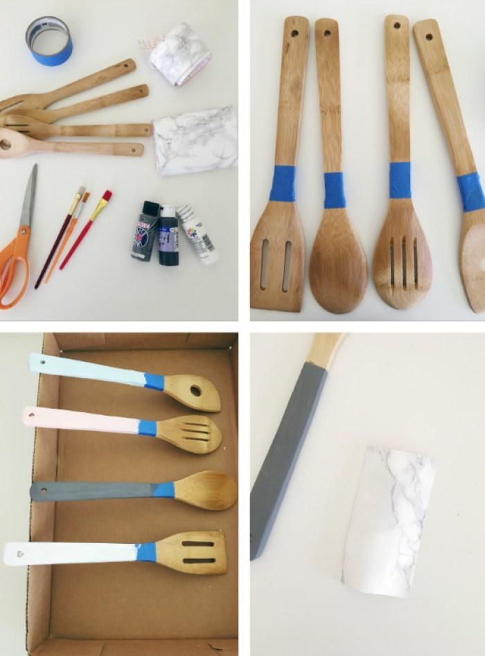 diy marble kitchen utensils