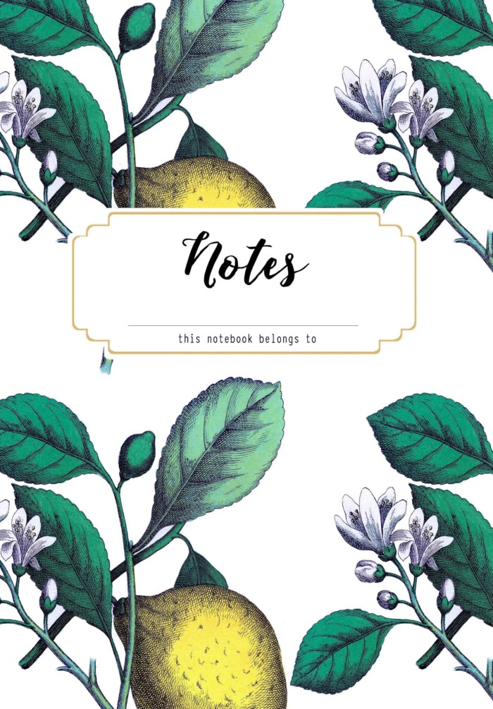 lemon notebook cover from A Joyful Riot
