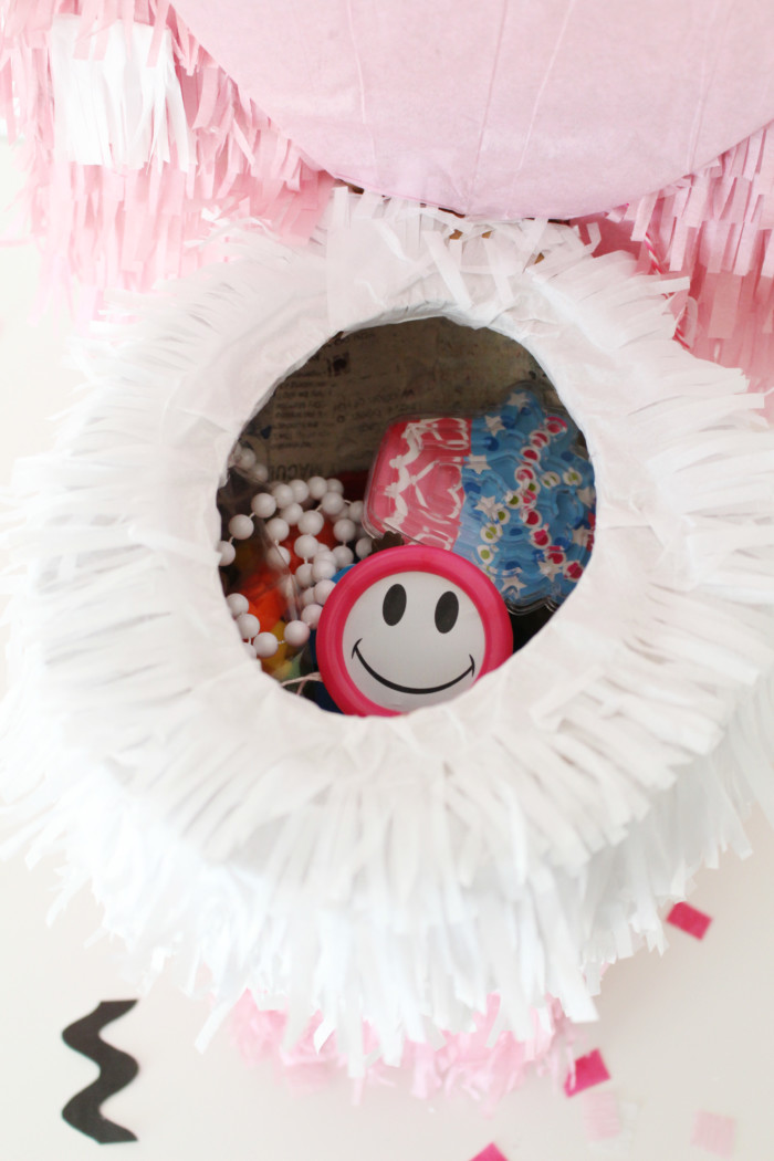 Make a cute toilet pinata for your littles to choose prizes from when they do well while potty training. Then when they're done, they can break it open! via ajoyfulriot.com