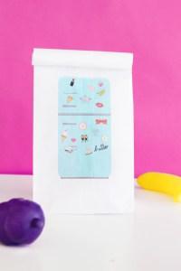 Print your own custom lunchbags with these adorable vintage fridge printables via ajoyfullriot.com