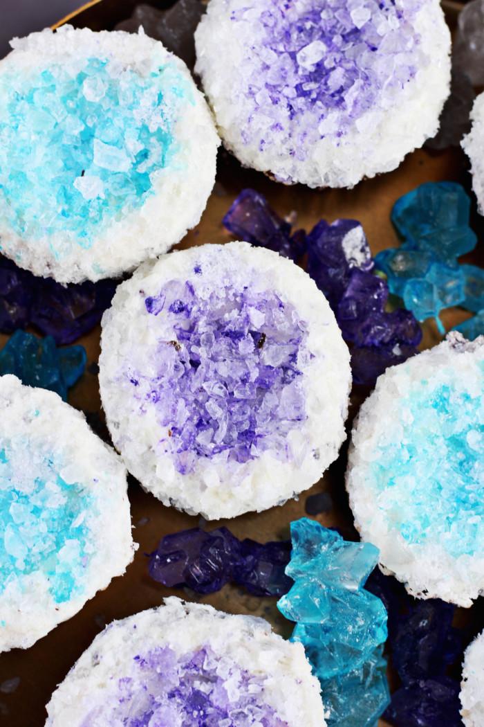 Pretty DIY Geode Cupcakes  A Joyful Riot