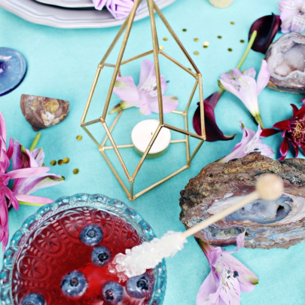 Geodes & Gemstone Inspired Outdoor Dinner Party