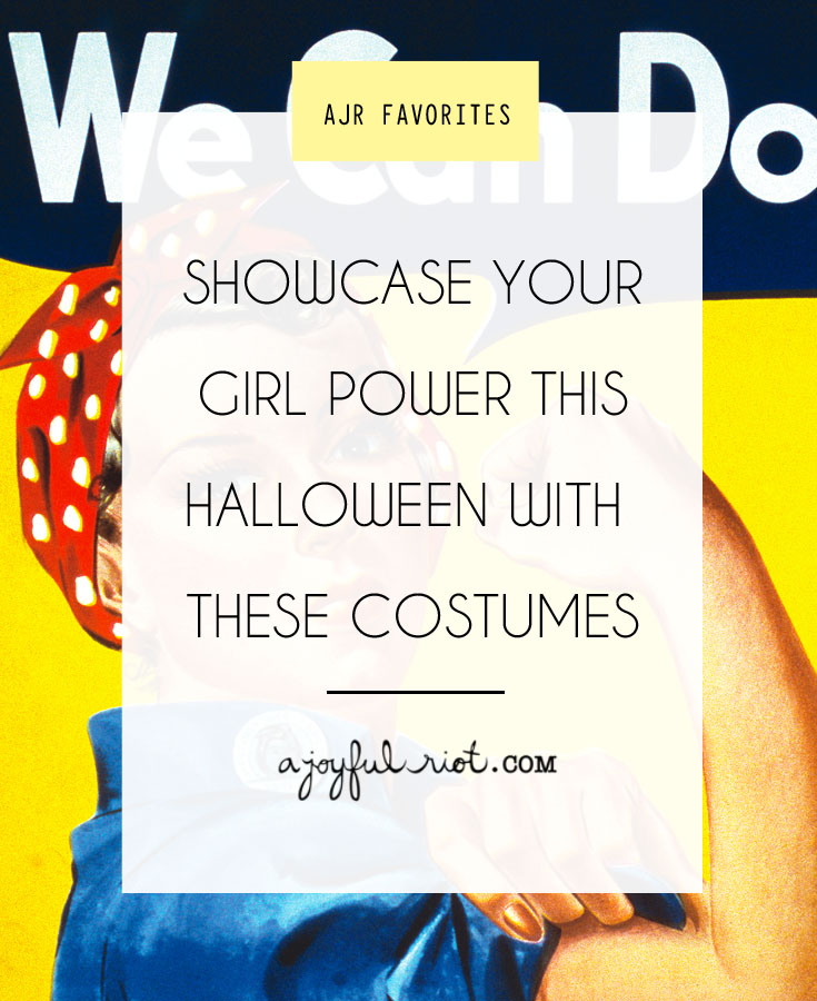 Be a bad-A boss chick this halloween with these 10 DIY girl power halloween costumes that you can even complete at the thrift store! Via ajoyfulriot.com
