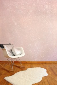 Cover your wall in glitter by following this easy tutorial! via A Joyful Riot