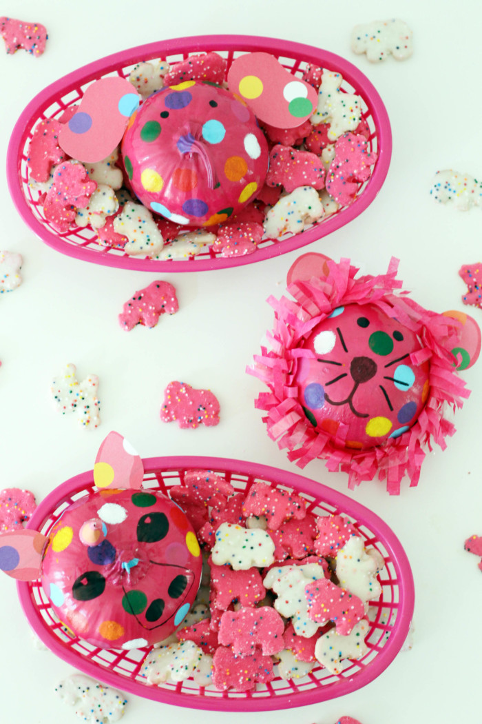 Animal Cookie Pumpkins are a cute and colorful no-carve idea for the whole family! | A Joyful Riot