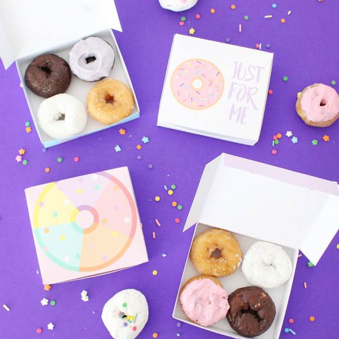graphic about Donut Printable named No cost Printable Mini Donut Containers A Happy Rise up