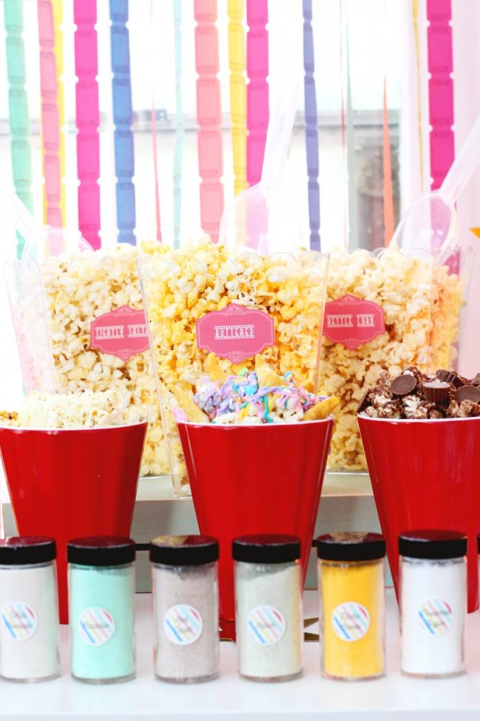 Any amazing popcorn bar with 3 fun recipes and tons of ideas!