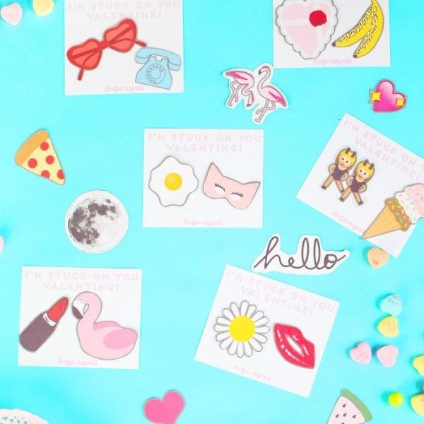 Printable Valentine Magnets & Cards