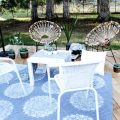 DIY Outdoor Rug with Spray Paint