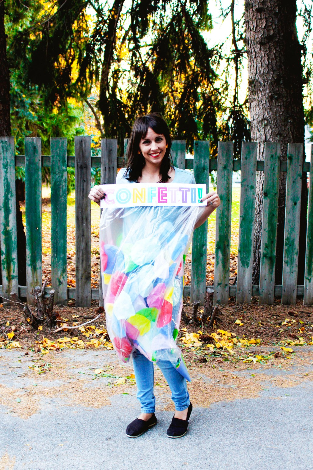 DIY bag of confetti halloween costume