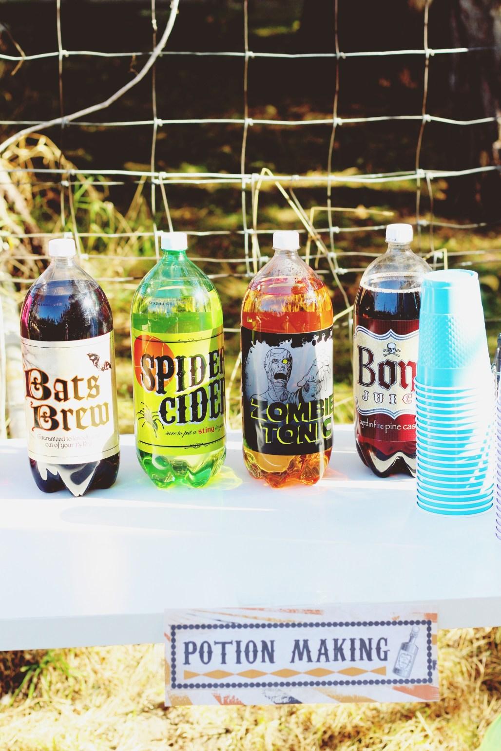 halloween carnival birthday party potion making soda bar