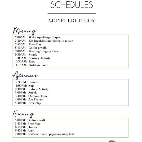Toddler Schedules To Help Get You Through Quarantine
