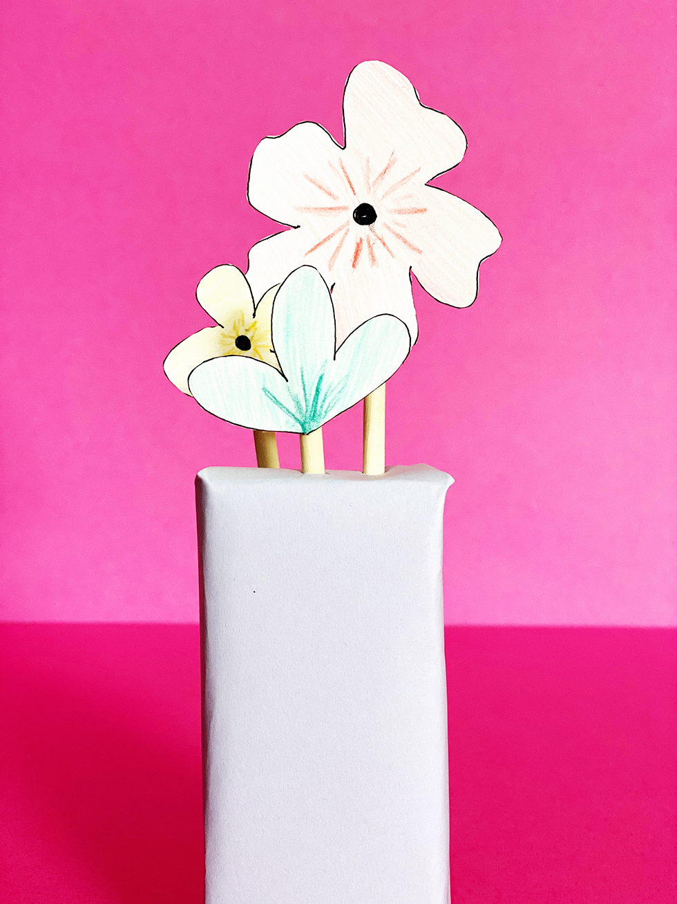 Juice box vase
