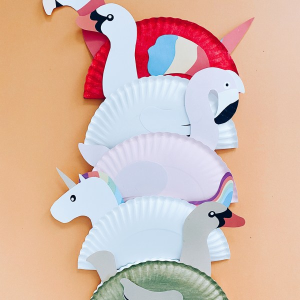 Paper Plate Pool Floats