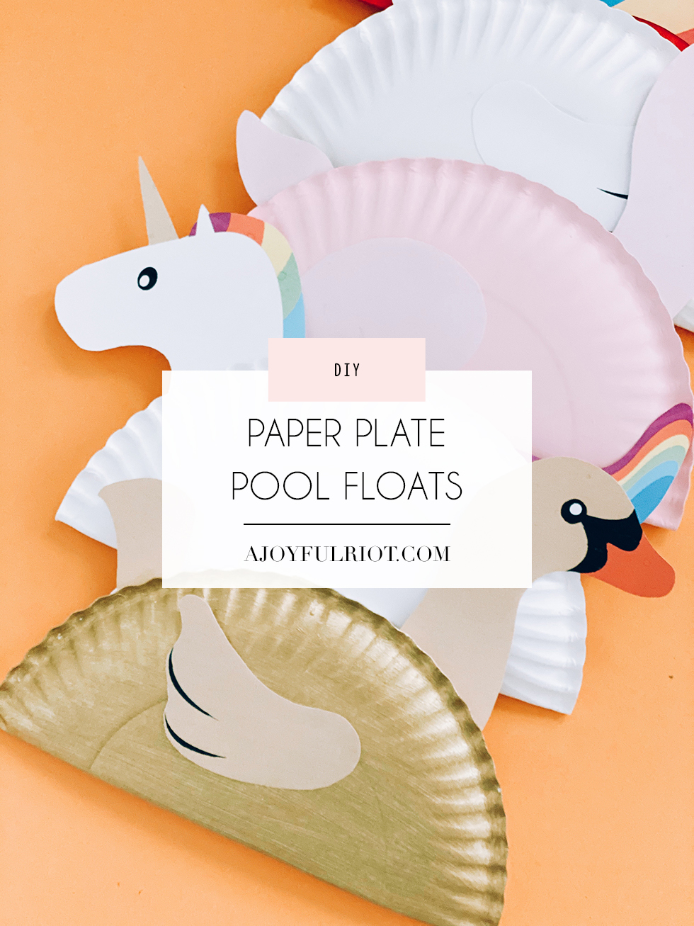 Paper plate pool float