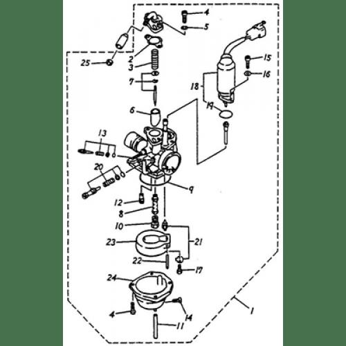 Carburetor (Silver Fox 50)