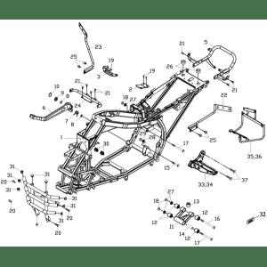 Frame Body (Adly ATV 150S Interceptor)