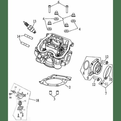 Cylinder Head (Adly ATV Q300)