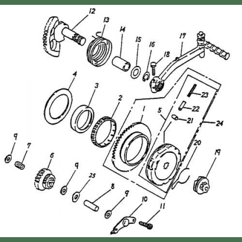 Starter (Adly ATV 50cc 2T)