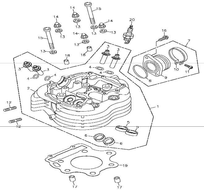 Cylinder Head (Adly ATV 300S II CrossXRoad)