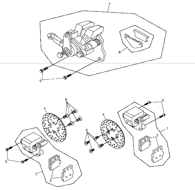 Front Brake (Adly ATV 300S II CrossXRoad)